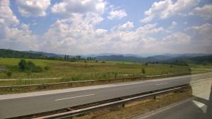 6ème jour: à nouveau sur les routes bulgares pour se rendre à Sophia, en bus toujours, 6h de route, c'est long mais je veux voir la capitale.