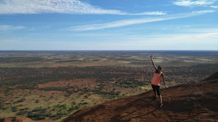 Au sommet d'Uluru.